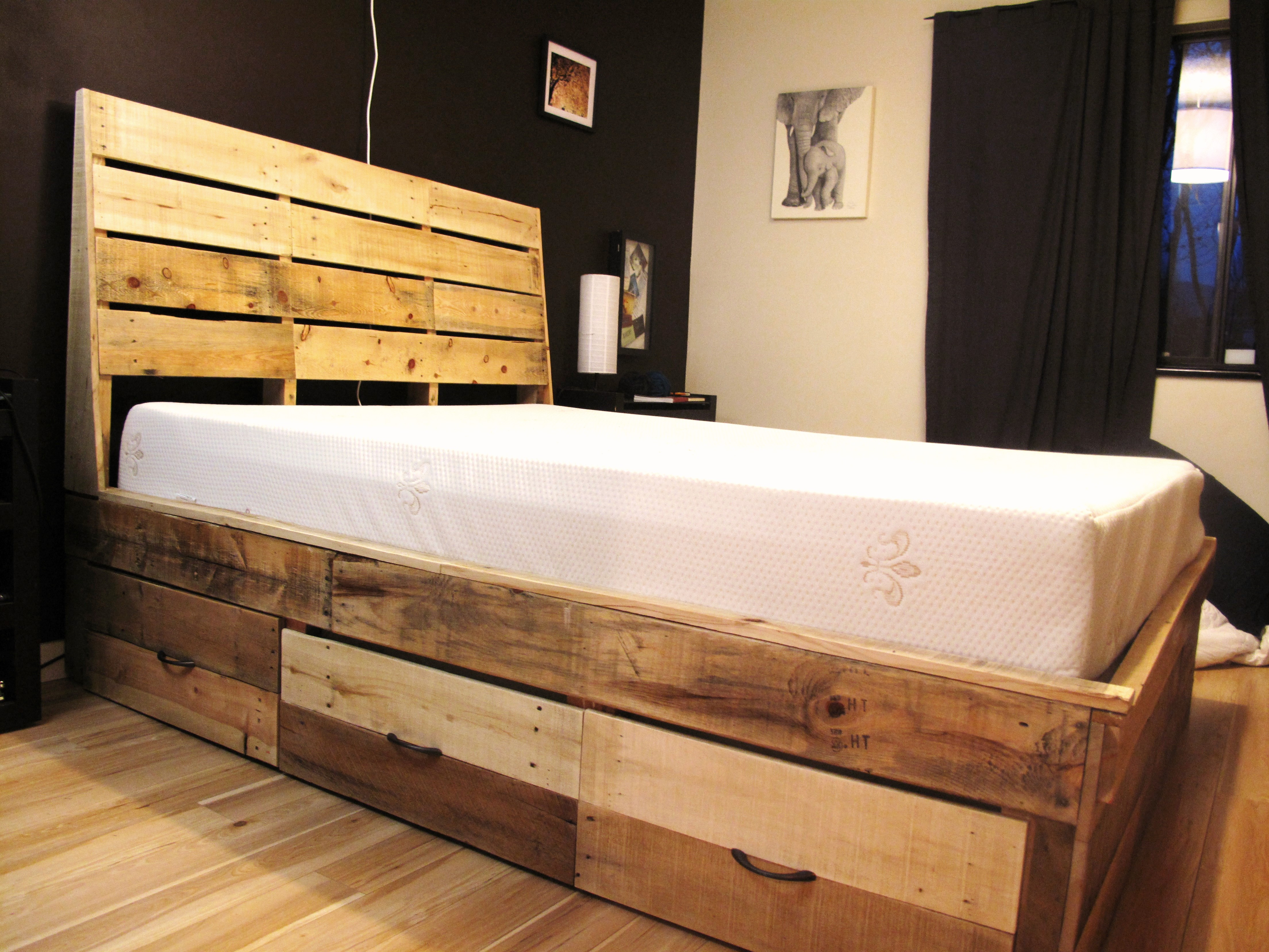 Bed Frame with Drawers   Lazarus and Wood Shop